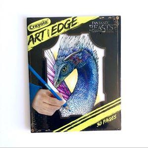 Fantastic Beasts Harry Potter colouring book art